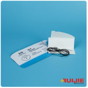 Non-Absorbable Silk Braided Surgical Suture with Needle pictures & photos