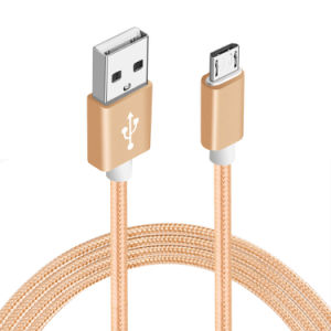 5V 2A Nylon Insulated Micro USB Cable for Samsung Android pictures & photos