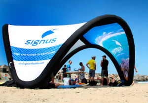 Inflatable Big Advertising Beach Sunshade Tent pictures & photos