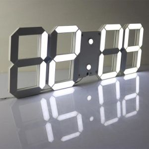 3D White LED Digital Clock with Remote Control and Light-Operated pictures & photos