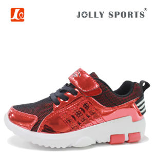 New Born Little Kid Infant Children Baby Shiny PU Shoes pictures & photos
