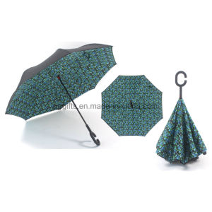 Excellent New Style Reverse Inverted Summer Umbrella pictures & photos