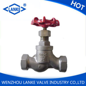 Ss304 316 CF8m NPT BSPT Threaded Globe Valve pictures & photos