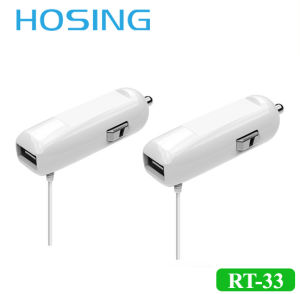 2 in 1 Mini USB Car Charger 2.1A with Cable pictures & photos