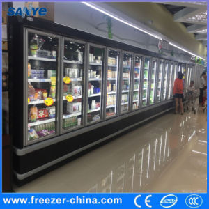 Anti-Fog Heated Glass Door Remote Compressor Vertical Cooler pictures & photos