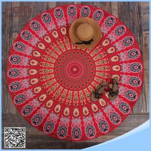 China Round Beach Towel 100% Cotton Cheap Price Mandala Beach Towel pictures & photos