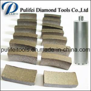 Sintered Electroplate Reinforced Concrete Diamond Core Drill Bit Segment pictures & photos