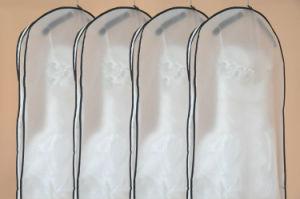 Half-Transparent Custom Size Glass Yarn Wedding Dress Garment Bag pictures & photos