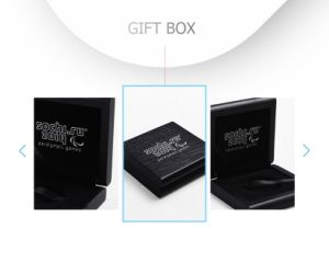 Modern Stylish Black Lacquer Wooden Coin Gift Box pictures & photos