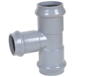 PVC Pipe Fitting Three Faucet Reducing Tee with Rubber Ring pictures & photos