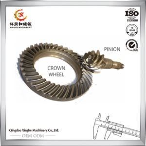 OEM Machine Parts Worm Gearpinion Shaft Steel Alloy Crown Gear pictures & photos