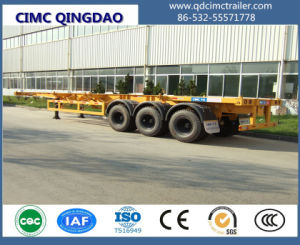 Cimc Tri-Axle 45FT Skeleton Container Semi Truck Trailer Chassis pictures & photos