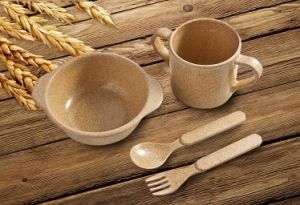 BPA Free Rice Husk Dinnerware Set for Kids (BC-CS1089) pictures & photos