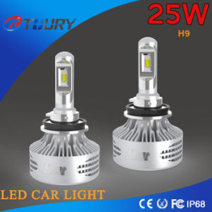 LED Conversion Kit H9 6000lm Motorcycle Head Car Lights Philip 25W pictures & photos