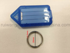 Wholesale Plastic Key Tags, Plastic Keyrings, Key Tag with Blank ID Card pictures & photos