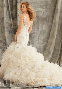 2017 Crystal Ruffled Cocktail Party Prom Evening Wedding Dress Wd1354 pictures & photos