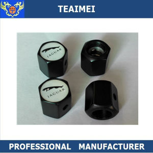 4 PCS Black Air Valve Stem Cap with Various Car Logo