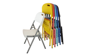 Metal Plastic Colorful Folding Chair