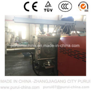 Two Stage HDPE Flakes Recycling Pelletizing Machine with 500kg/Hr pictures & photos