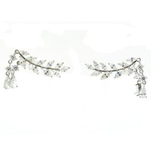 Wholesale Price Women Unique Rhinestone Statement Earring with Chandelier Pearl (E6636) pictures & photos