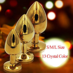 5 PCS/Lot Large Size Metal Suppository Crystal Jewelry Stimulation Butt Plug Anal Plugs Massager Erotic Sex Toys for Women Men pictures & photos
