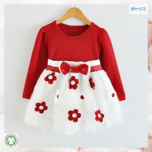 Polo Neck Baby Wear Soft Organic Baby Dress pictures & photos