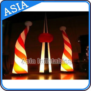 PVC Decoration Wholesalers LED Christmas Inflatable Cones, Light Tusk / Inflatable LED Cone, Inflatable Decoration Star pictures & photos