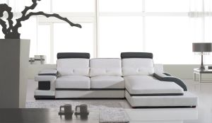 Modern Living Room Sofa Large Corner Leather Sofa U Shaped Sectional pictures & photos