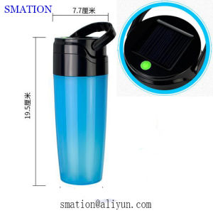 Solar Powered Rechargeable Plastic LED Torch Flashlight Solar Camping Lantern pictures & photos