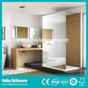 Aluminium Walk-in Shower Screen with Tempered Laminated Glass (SE928C)