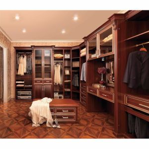 Classics Luxury L-Shaped Solid Wood Open Closet for Home Furniture pictures & photos