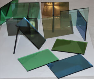 4-6mm Green Reflective Glass Tinted Reflective Float Glass 3300*2140mm pictures & photos