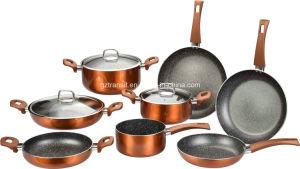 Metallic Copper Colour Aluminum Pots Casseroles pictures & photos
