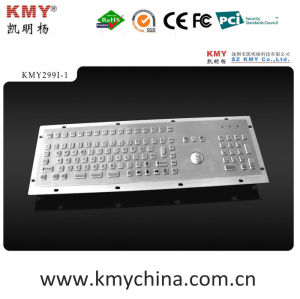 IP65 Kiosk Metal Keyboard with Trackball (KMY299I-1) pictures & photos