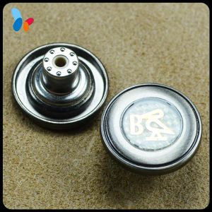 China Manufacture Metal Print Logo Tack Button for Jeans pictures & photos