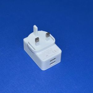 White/Black 5V3a Dual Port USB Power Adapter pictures & photos