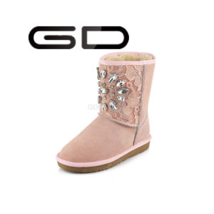 Classy Fetish Leather Pink Women Snow Boots for 2017 Winter pictures & photos