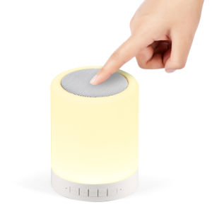 Cylindrical Portable Multicolors Dimmable LED Light with Bluetooth Speaker pictures & photos