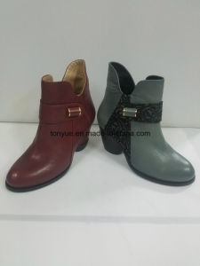 Lady Leather Brush Color Restoring Ancient Ways Is Short Boots pictures & photos