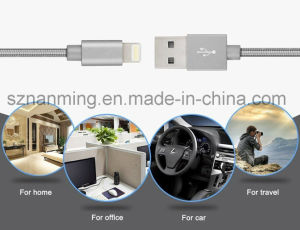 Fashion Nylon Braided 8-Pin Lighting USB Cable Mfi Certified Sync Charging Data Cable pictures & photos