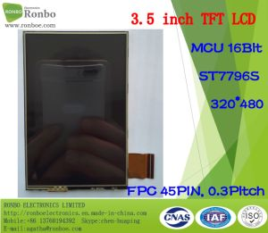 "3.5"" 320X480 RGB or MCU 16/18bit 45pin Touch Screen TFT LCD Display pictures & photos"