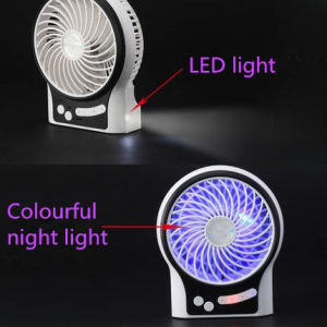 Portable Charging USB mini fan with 3 level wind speeding-Black pictures & photos