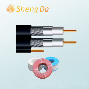 Special Digital Communication Drop Coaxial RG6 Quad Shield Cable pictures & photos