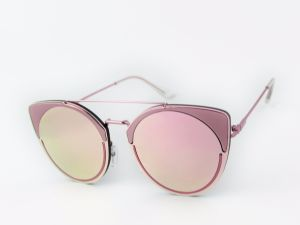 Round Frame with Eyecat Design Fashion Metal Sunglasses Km16161 Muti Colour Choice pictures & photos
