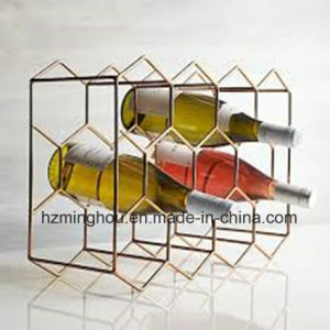 Aluminium Wine Rack Bottle Gold with Industrial Finish Cubby Set pictures & photos