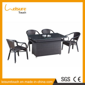 outdoor Swimming Pool Furniture Double-Deck Rattan Table Set for Glass pictures & photos