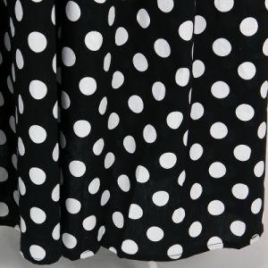 Cotton Floor Length Black White Polka Dot Retro Vintage Skirt pictures & photos