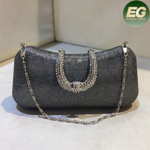 Trendy Ladies Evening Clutch Bags Shiny Party Handbag Purses with Metal Chain Eb767 pictures & photos