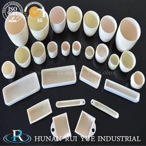 1800c Alumina Ceramic Cylindrical Dish Crucibles pictures & photos