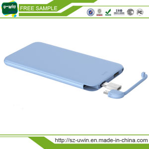 5000mAh Slim Mini Credit Card Power Bank Phone Charger pictures & photos